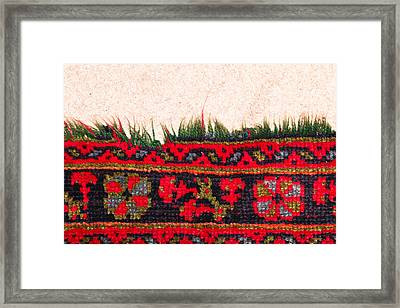 Rug Pattern Framed Print by Tom Gowanlock