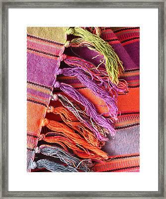 Rug Tassels Framed Print by Tom Gowanlock
