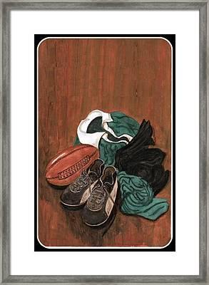 Rugby Framed Print by Sam Mart