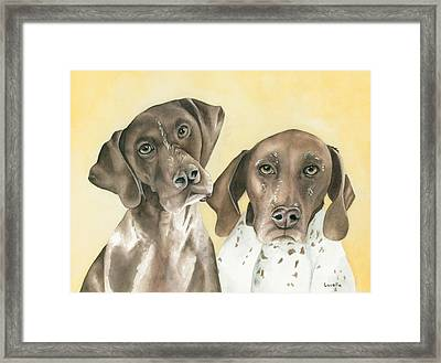 Ruger And Daisey   Framed Print by Kimberly Lavelle