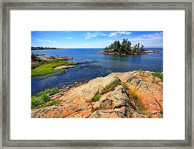 Rugged Beauty Framed Print by Charline Xia