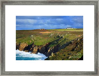 Rugged Cliffs Northeast Of Lands End Framed Print by Louise Heusinkveld