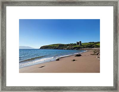 Ruined 16th Century Minard Castle Framed Print by Panoramic Images
