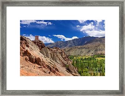 Ruins Basgo Monastery Leh Ladakh Jammu And Kashmir India Framed Print by Rudra Narayan  Mitra