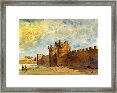 Ruins Morocco Framed Print by Juan  Bosco