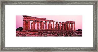 Ruins Of A Temple, Temple E, Selinunte Framed Print by Panoramic Images