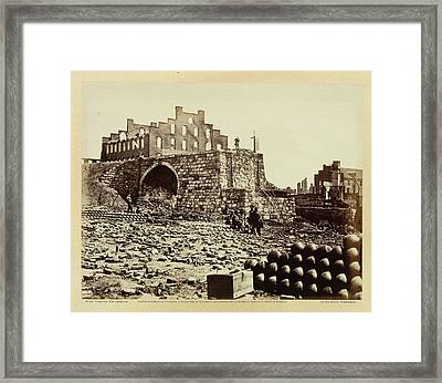 Ruins Of An Ammunition Store Framed Print by British Library