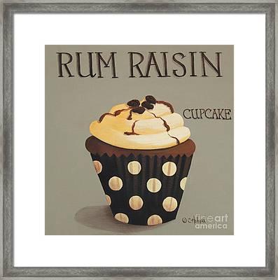 Rum Raisin Cupcake Framed Print by Catherine Holman