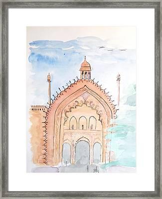 Rumi Gate Framed Print by Keshava Shukla