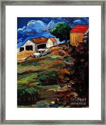 Run Down And Over Grown Framed Print by Charlie Spear
