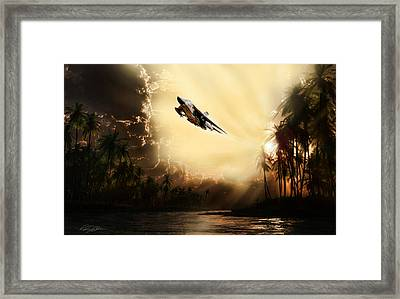Run Through The Jungle Framed Print by Peter Chilelli