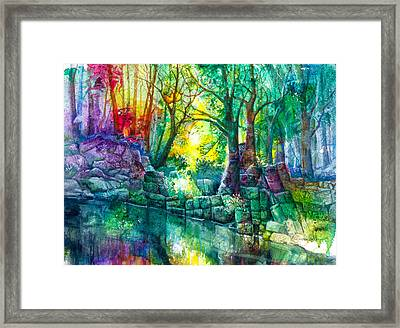 Runes By The Stream Framed Print by Patricia Allingham Carlson