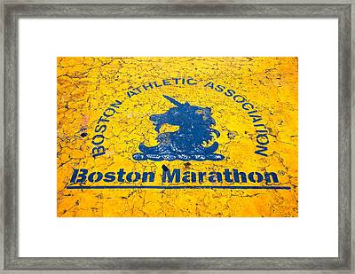 Runners Framed Print by Charlie Brock