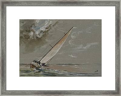 Running Away From The Storm Framed Print by Juan  Bosco