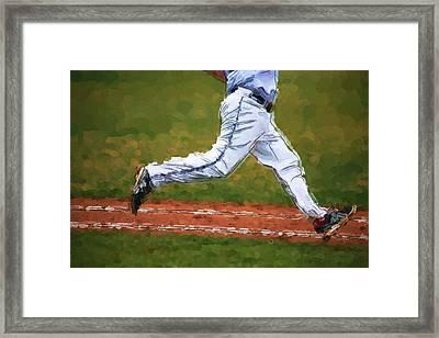 Running Hard Framed Print by Karol Livote