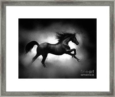 Running Horse Framed Print by Robert Foster