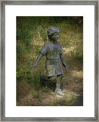 Running In The Grass Framed Print by Frank Wilson