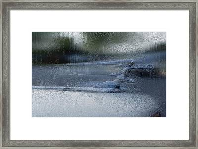 Running In The Rain Framed Print by Jack Zulli