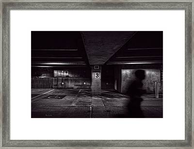 Running Level Three Night People Framed Print by Bob Orsillo