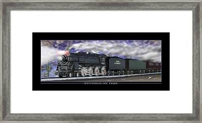 Running On Time Framed Print by Mike McGlothlen