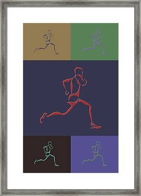 Running Runner Framed Print by Joe Hamilton