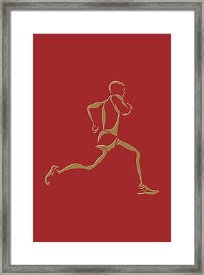 Running Runner10 Framed Print by Joe Hamilton