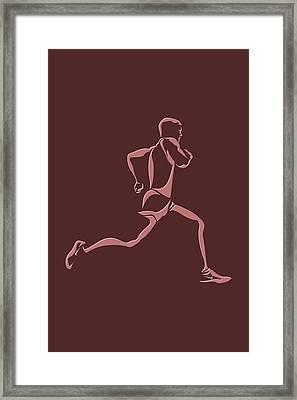 Running Runner11 Framed Print by Joe Hamilton