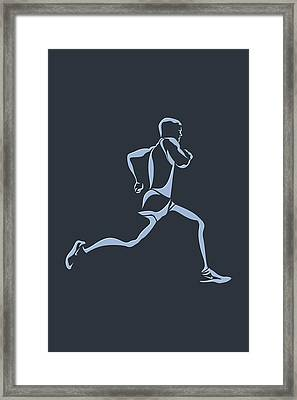 Running Runner12 Framed Print by Joe Hamilton