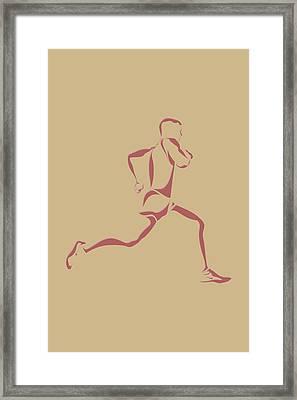 Running Runner14 Framed Print by Joe Hamilton
