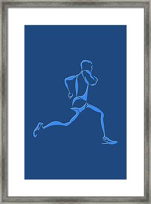 Running Runner15 Framed Print by Joe Hamilton
