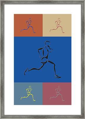 Running Runner2 Framed Print by Joe Hamilton
