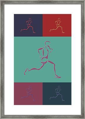 Running Runner3 Framed Print by Joe Hamilton