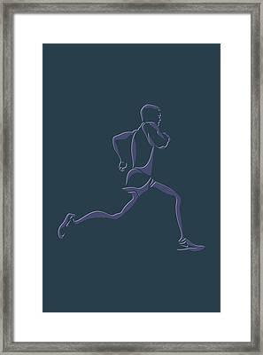 Running Runner6 Framed Print by Joe Hamilton