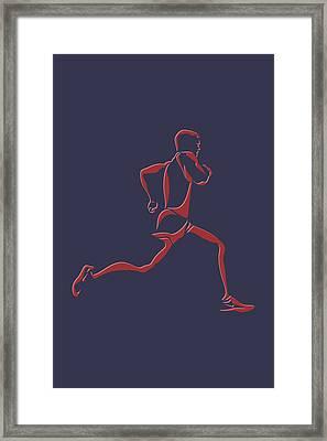 Running Runner7 Framed Print by Joe Hamilton