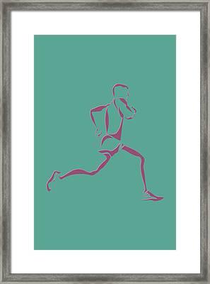 Running Runner9 Framed Print by Joe Hamilton
