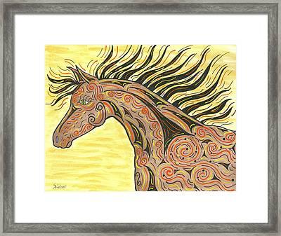 Running Wild Horse Framed Print by Susie WEBER
