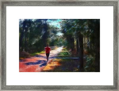 Running Framed Print by William Sargent