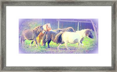 and then I will go running with my friends Framed Print by Hilde Widerberg