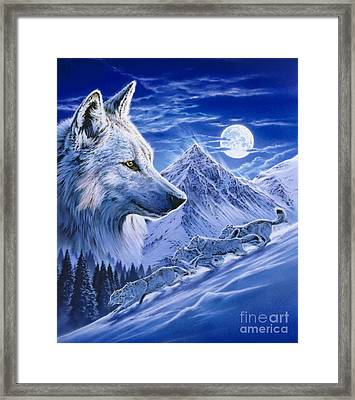 Running With The Pack Framed Print by Robin Koni