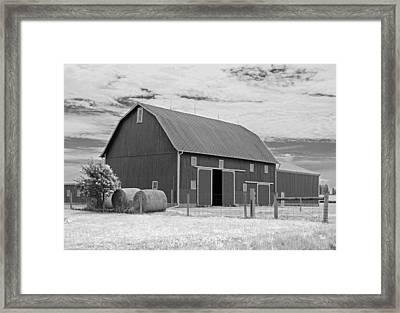 Rural Indiana Barn II - Infrared Framed Print by Suzanne Gaff