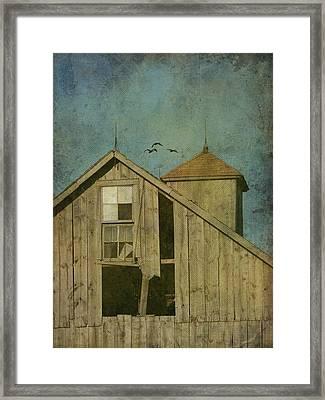 Rural Iowa Barn 5 Framed Print by Cassie Peters