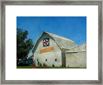 Rural Iowa Barn Framed Print by Cassie Peters