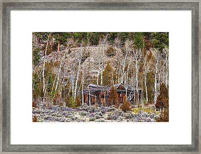 Rural Rustic Rundown Rocky Mountain Cabin Framed Print by James BO  Insogna