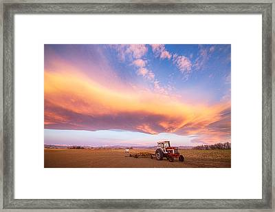 Rural Turbo Country Sky Framed Print by James BO  Insogna