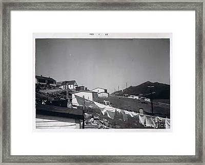 Rural Washday 1969 - Nostalgic Memories Framed Print by Barbara Griffin