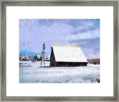 Rural Winter Scene Framed Print by Anthony Caruso