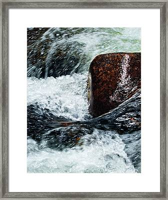 Rushing Water Framed Print by Julie Magers Soulen
