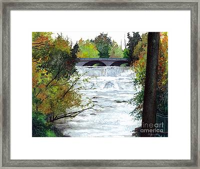 Rushing Water - Quiet Thoughts Framed Print by Barbara Jewell