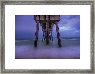 Russell Fields Pier Framed Print by David Morefield