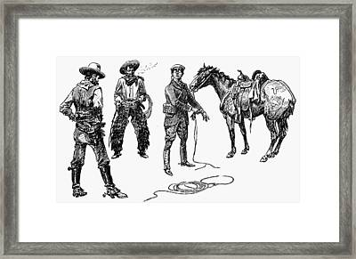Russell Tenderfoot Framed Print by Granger